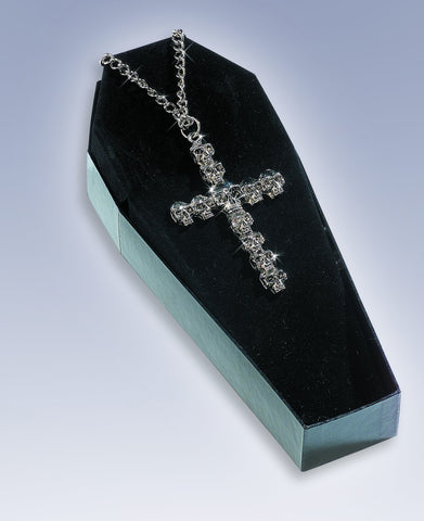 Skull Cross Necklace - HalloweenCostumes4U.com - Accessories