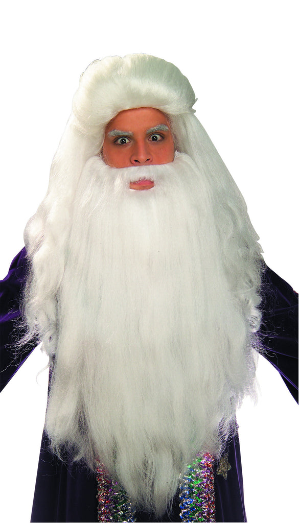 Costume Wig/Beard Sorcerer Wig and Beard Set - HalloweenCostumes4U.com - Accessories