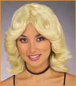 Halloween Wigs 70's Blonde Sex Kitten Wigs - HalloweenCostumes4U.com - Accessories