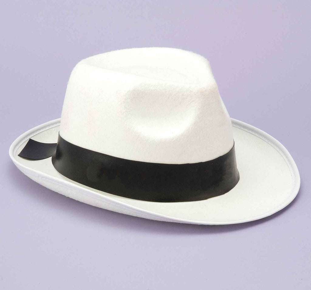 Gangster Hats White Gangster Costume Hat - HalloweenCostumes4U.com - Accessories