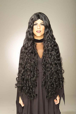 Costume Wigs Long Curly Black Halloween Wig - HalloweenCostumes4U.com - Accessories