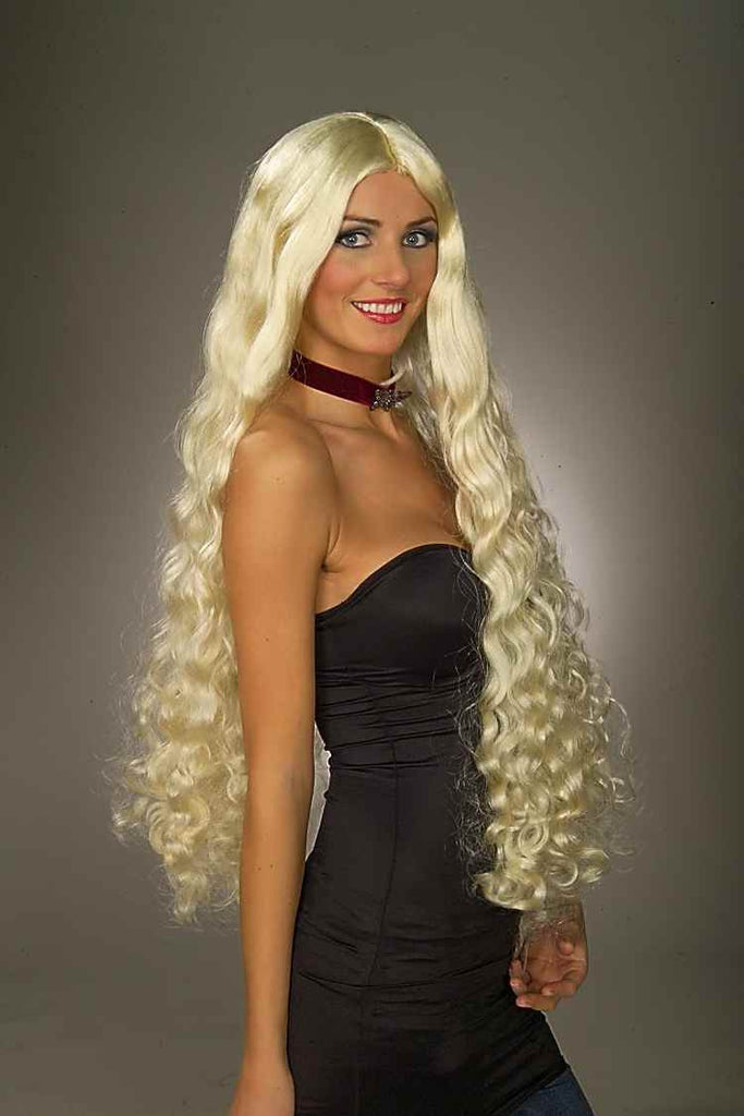 Costume Wigs  Long Curly Blonde Halloween Wig - HalloweenCostumes4U.com - Accessories