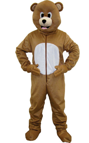 Adults Brown Bear Mascot Costume - HalloweenCostumes4U.com - Adult Costumes