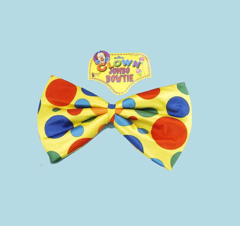 Clown Costume Bow Ties Jumbo Clown BowTie - HalloweenCostumes4U.com - Accessories