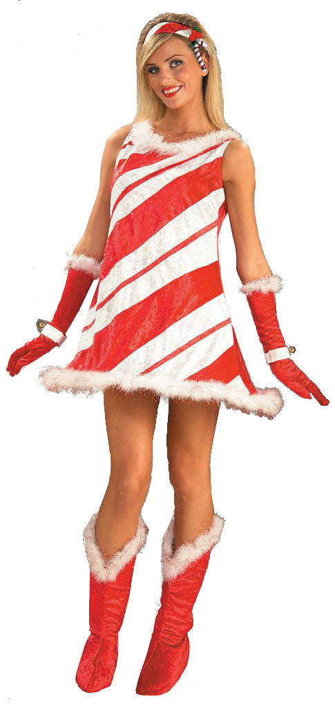 Christmas Costumes Sexy Candy Cane Woman