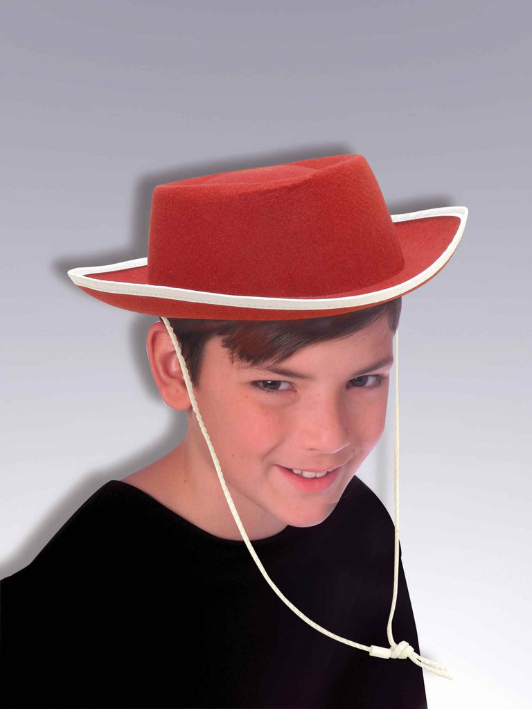 Cowboy Hats Kids Red Cowboy Costume Hat - HalloweenCostumes4U.com - Accessories
