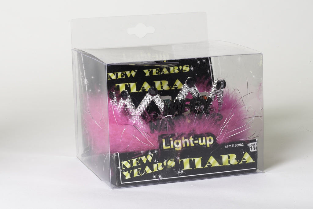 Flashing New Year Tiara Headpiece - HalloweenCostumes4U.com - Accessories