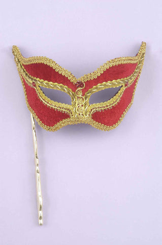 Costume Masks Red/Gold Costume Eye Mask on Stick - HalloweenCostumes4U.com - Accessories