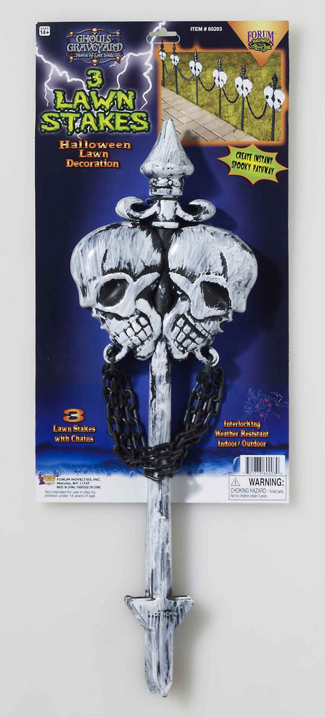 Halloween Decoration Skull Lawn Stakes - HalloweenCostumes4U.com - Decorations