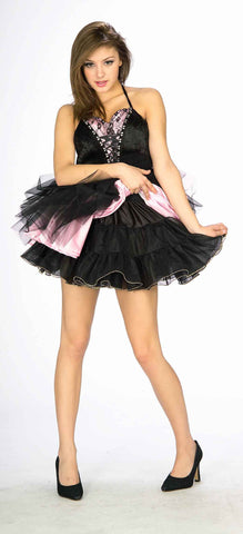 Halloween Petticoats Black w/Gold Trim - HalloweenCostumes4U.com - Accessories