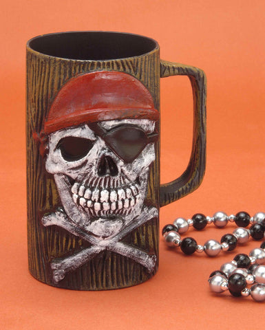 Halloween Decor Pirate Beer Mug - HalloweenCostumes4U.com - Decorations