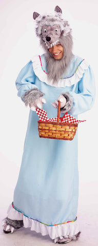 Adults Granny Wolf Costume - HalloweenCostumes4U.com - Adult Costumes