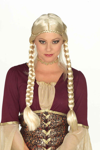 Costume Wigs Braided Renaissance Wig Blonde - HalloweenCostumes4U.com - Accessories