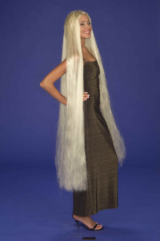 Halloween Wigs Super Long Godiva Wig Blonde - HalloweenCostumes4U.com - Accessories