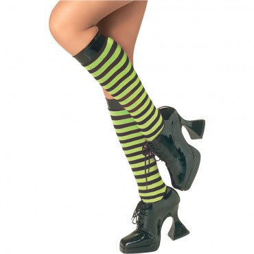 Green and Black Striped Knee Highs - HalloweenCostumes4U.com - Accessories