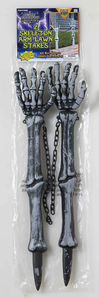 Halloween Decorations Skeleton Arm Lawn Stakes - HalloweenCostumes4U.com - Decorations