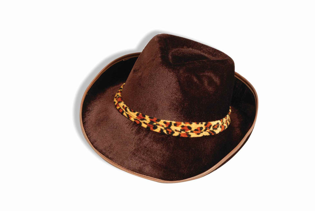 Halloween Costume Hats Fedora Hat Brown Velvet - HalloweenCostumes4U.com - Accessories