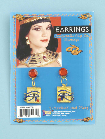 Egyptian Eye Costume Earrings - HalloweenCostumes4U.com - Accessories