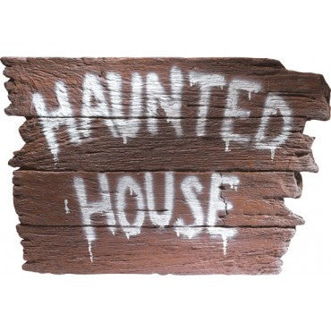 Haunted House Sign - HalloweenCostumes4U.com - Decorations