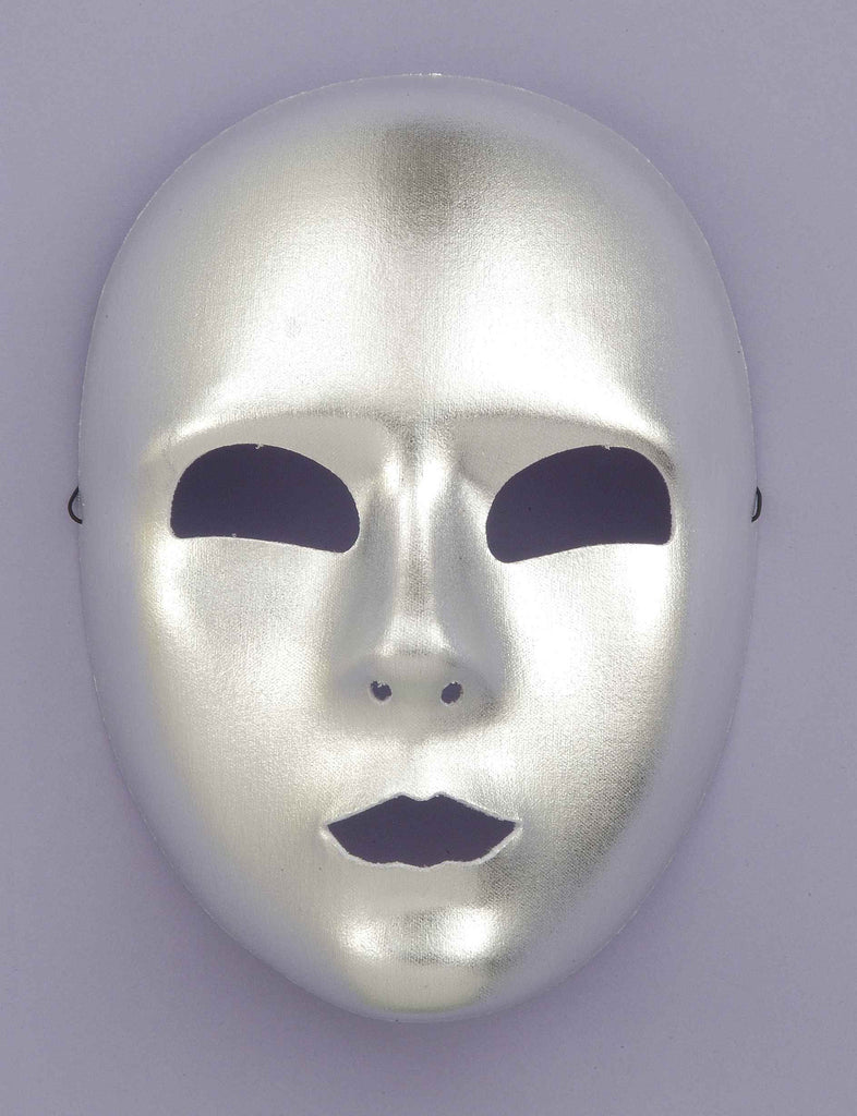 Silver Face Halloween Masks - HalloweenCostumes4U.com - Accessories