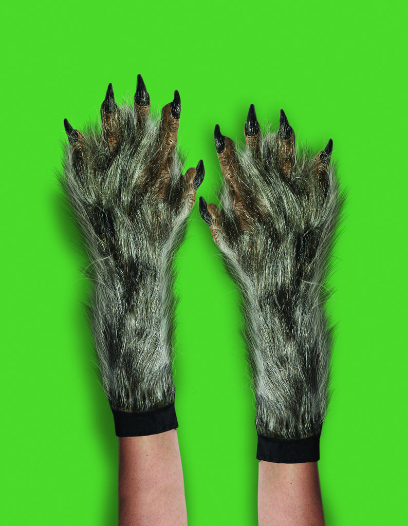 Werewolf Costume Gloves Long and Hairy