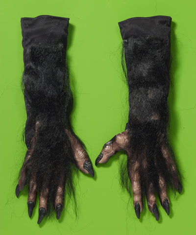 X-Long Werewolf Gloves-Black - HalloweenCostumes4U.com - Accessories