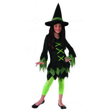 Girls Lime Witch Costume - HalloweenCostumes4U.com - Kids Costumes
