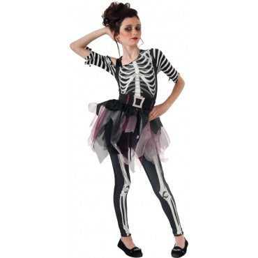 Girls Skeleton Ballerina Costume - HalloweenCostumes4U.com - Kids Costumes