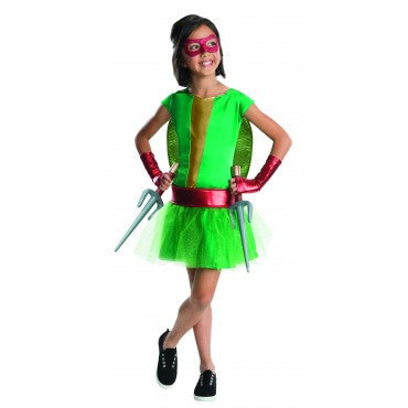 Girls Ninja Turtles Raphael Costume - HalloweenCostumes4U.com - Kids Costumes