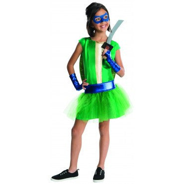 Girls Ninja Turtles Deluxe Leonardo Costume - HalloweenCostumes4U.com - Kids Costumes