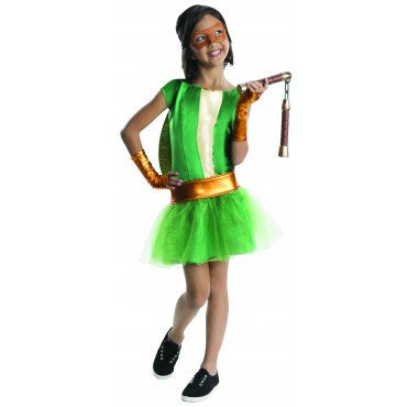 Girls Ninja Turtles Michelangelo Costume - HalloweenCostumes4U.com - Kids Costumes