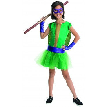 Girls Ninja Turtles Donatello Costume - HalloweenCostumes4U.com - Kids Costumes