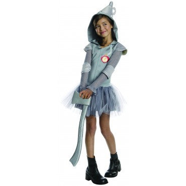 Girls Wizard of Oz Tin Man Hoodie Costume - HalloweenCostumes4U.com - Kids Costumes