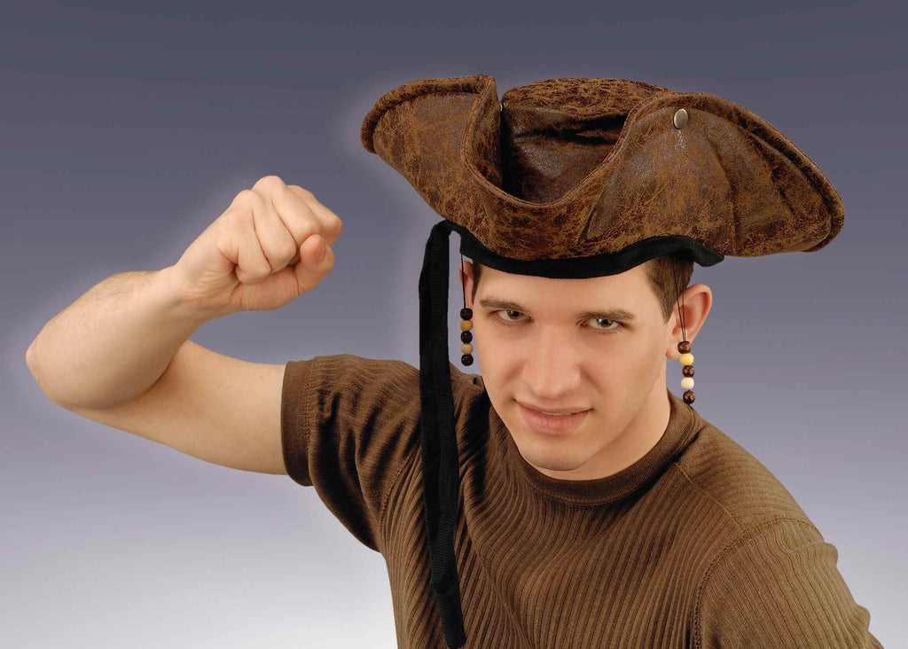 Halloween Costume Hats Pirate Hat Distressed Adult - HalloweenCostumes4U.com - Accessories