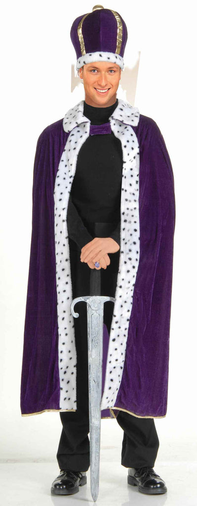 King Halloween Costumes Purple King Costume Adult