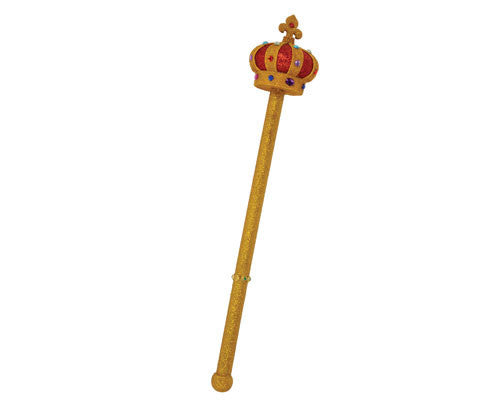Gold Glitter Royal Scepter - HalloweenCostumes4U.com - Accessories