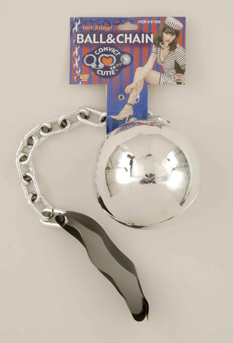 Lady Jailbird Ball and Chain Anklets - HalloweenCostumes4U.com - Accessories