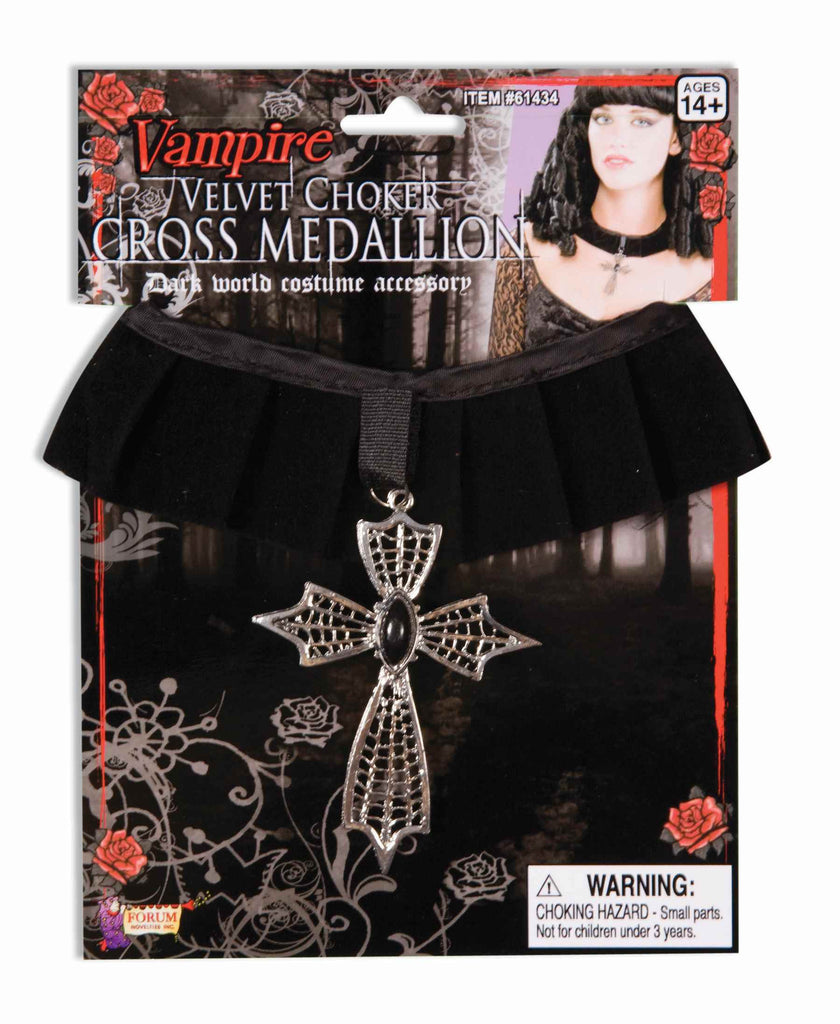 Halloween Costume Cross Necklace Velvet - HalloweenCostumes4U.com - Accessories