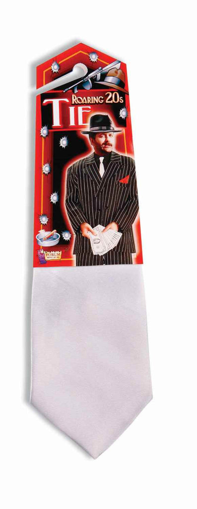 Gangster Costume Neck Tie White