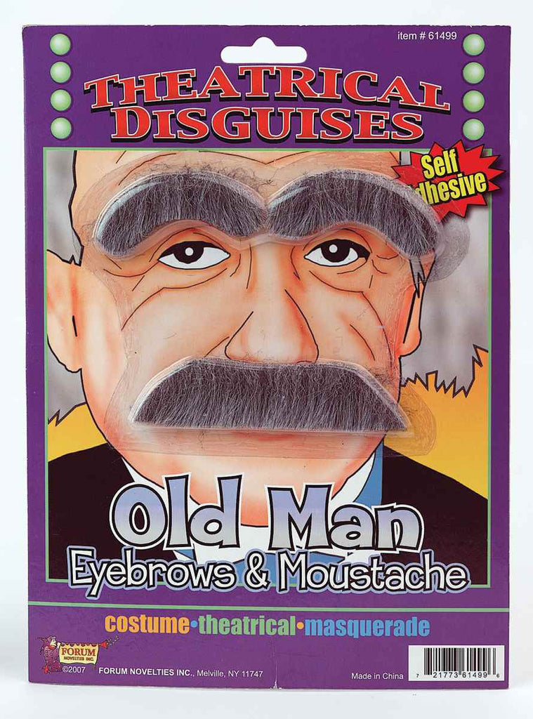 Halloween Costume Old Man Eyebrows/Moustache - HalloweenCostumes4U.com - Accessories