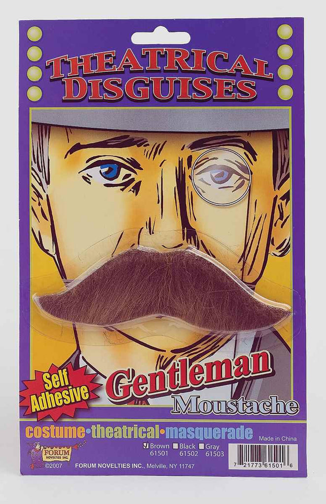 Halloween Costume Moustaches British Moustache Brown - HalloweenCostumes4U.com - Accessories