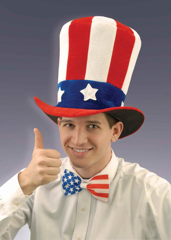 Velvet Patriotic Uncle Sam Top Hat - HalloweenCostumes4U.com - Holidays