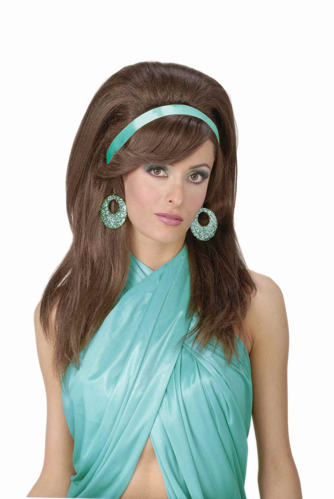 Costume Wigs 60's Mod Woman Wig Brown