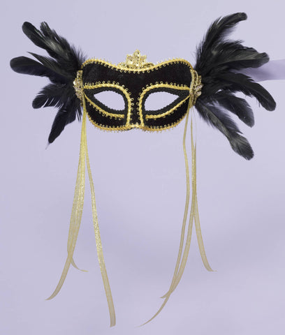 Costume Masks Venetian Feather Costume Eye Mask - HalloweenCostumes4U.com - Accessories