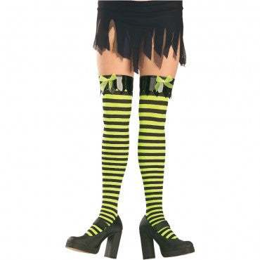 Striped Thigh High Stockings - HalloweenCostumes4U.com - Accessories