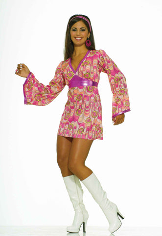 Womens Flower Power Dress - HalloweenCostumes4U.com - Adult Costumes