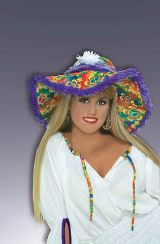 Costume Hats Hippie Costume Hat Floppy - HalloweenCostumes4U.com - Accessories
