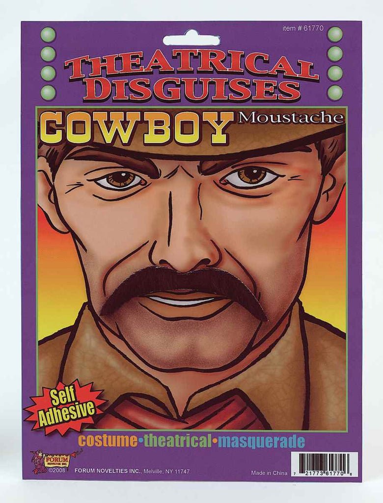 Halloween Costume Cowboy Moustaches - HalloweenCostumes4U.com - Accessories