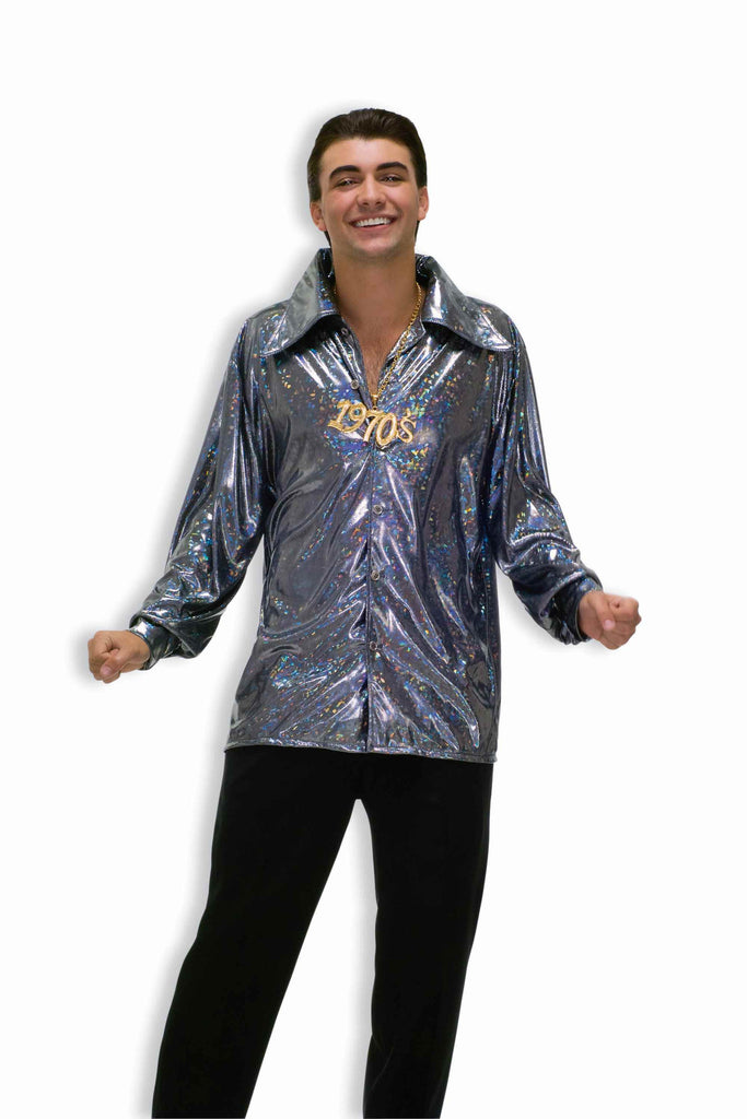 Disco Halloween Costumes 70's Mens Disco Shirt - HalloweenCostumes4U.com - Adult Costumes