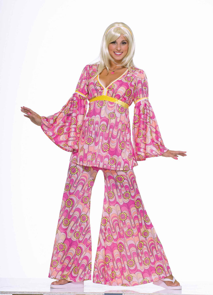 Hippie Costumes Womens Pink Hippie Halloween Costume Halloween
